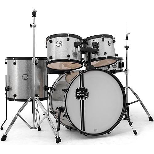 Mapex Mapex Voyager Standard Drum Set with Black Hardware Crystal Sparkle