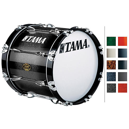 Tama Marching Maple Bass Drum Molten Caramel Fade 14x18