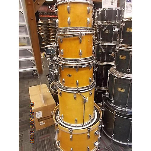 Used slingerland maple drum kit natural lacquer guitar for 14x12 floor tom