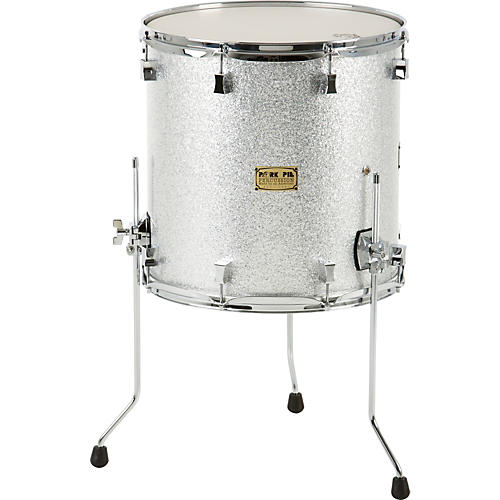 Pork Pie Maple Floor Tom Black Glass 16 x 14 in.
