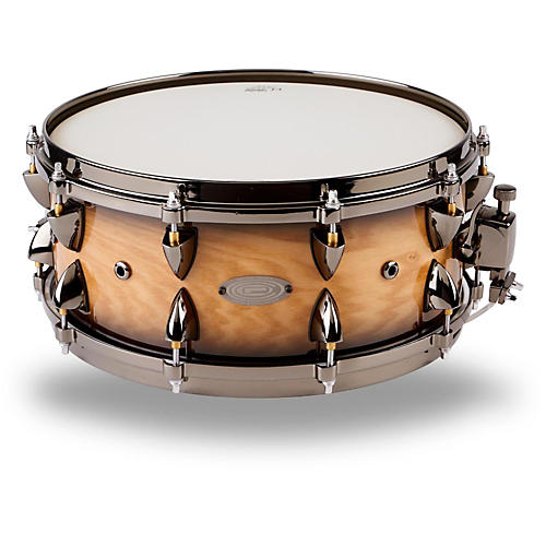 Orange County Drum & Percussion Maple Snare 14 x 6 in., Natural Black Burst