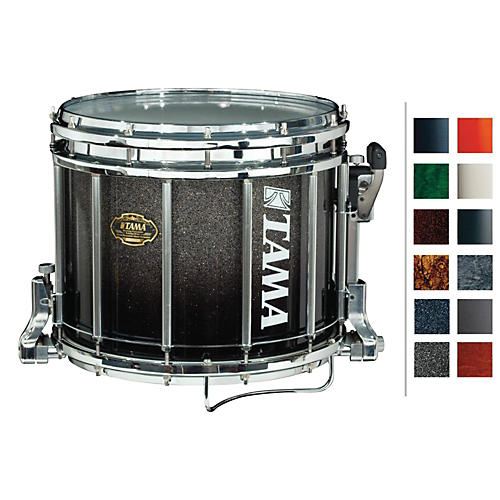 Tama Marching Maple Snare Drum Piano Black 12x14