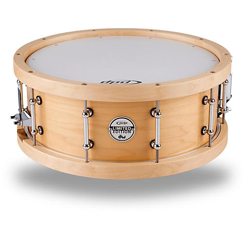 PDP Maple Snare with Wood Hoops Natural 14 x 5.5 in.