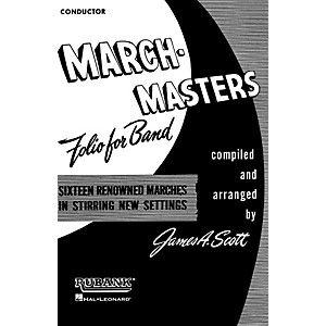 Rubank Publications March Masters Folio for Band 1st Bb Cornet Concert Ba... by Rubank Publications