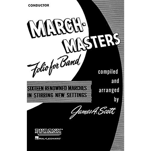 Rubank Publications March Masters Folio for Band (Baritone T.C.) Concert Band Composed by Various