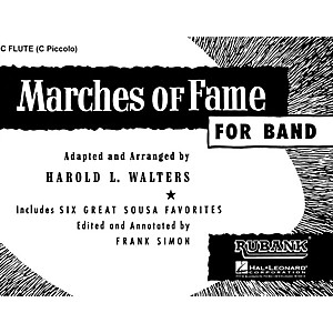 Rubank Publications Marches of Fame for Band 2nd Bb Cornet Concert Band C... by Rubank Publications