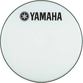 Yamaha marching bass drum head with fork logo guitar center for Yamaha bass drum decal