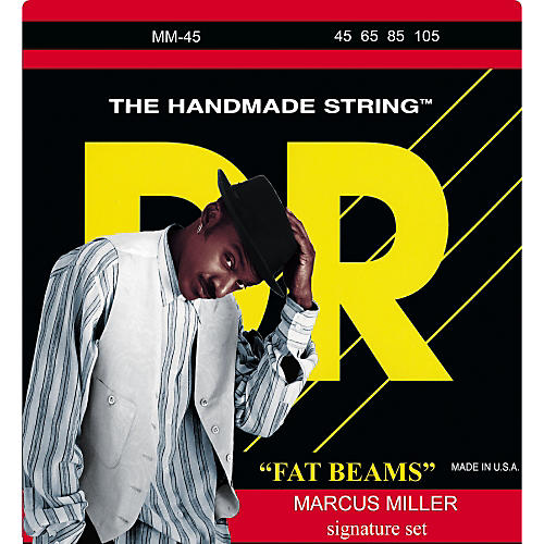 DR Strings Marcus Miller MM-45 Fat Beams Medium 4-String Bass Strings-thumbnail