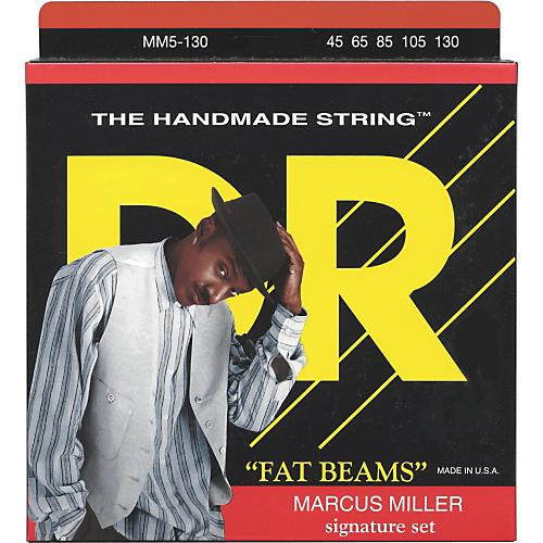 DR Strings Marcus Miller MM5-130 Fat Beams Lite 5-String Bass Strings .130 Low B