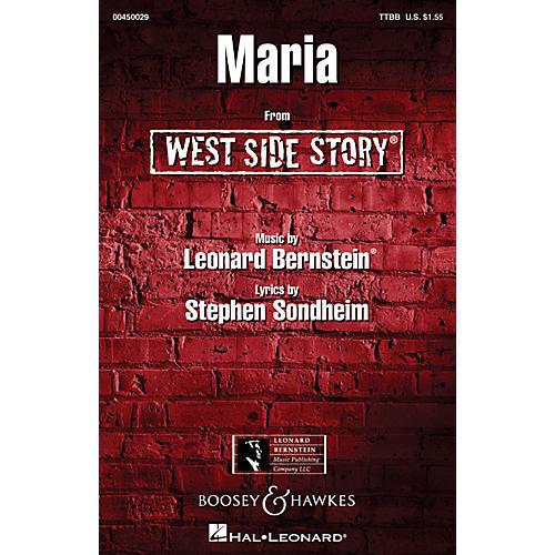 Hal Leonard Maria (from West Side Story) TTBB A Cappella Arranged by Ed Lojeski