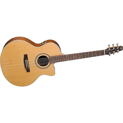 Seagull Maritime Series Cutaway Mini Jumbo QII Acoustic-Electric Guitar with Gig Bag-thumbnail