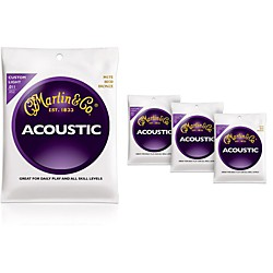 Martin M175 Traditional Bronze Custom Light Acoustic Guitar Strings - 4 Pack (41M175KIT)