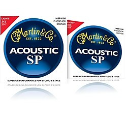 Martin MSP4100 Phosphor Bronze Light Acoustic Strings 2 Pack (MSP4100-2PK)