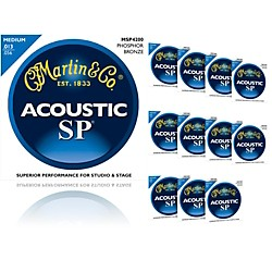 Martin MSP4200 Phosphor Bronze Medium Acoustic Strings (12 Pack)