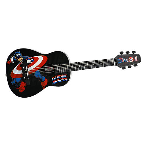 Peavey Marvel Captain America 1/2 Size Acoustic Guitar Black