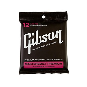 Gibson Masterbuilt Premium 80 20 Bronze Lights Acoustic Guitar Strings by Gibson