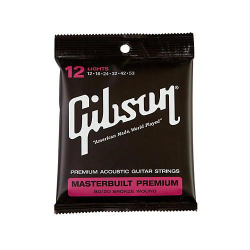 Gibson Masterbuilt Premium 80/20 Bronze Lights Acoustic Guitar Strings-thumbnail
