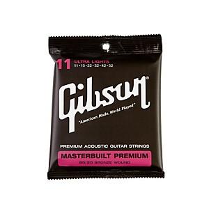 Gibson Masterbuilt Premium 80 20 Bronze Ultra Light Acoustic Guitar Strings by Gibson