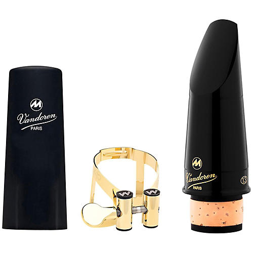 Vandoren Masters 13 Series Bb Clarinet Mouthpiece CL4 Facing M/O Pewter Ligature M/O 24K Gold Ligature