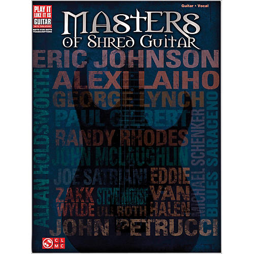 Cherry Lane Masters Of Shred Guitar  Guitar Tab Songbook