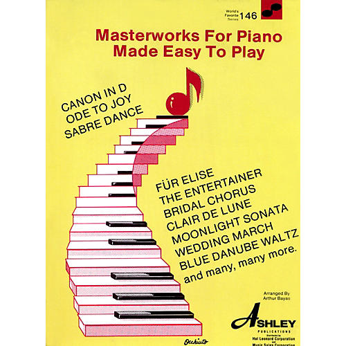 Hal Leonard Masterworks For The Piano Made Easy To Play 146 Worlds Favorite-thumbnail