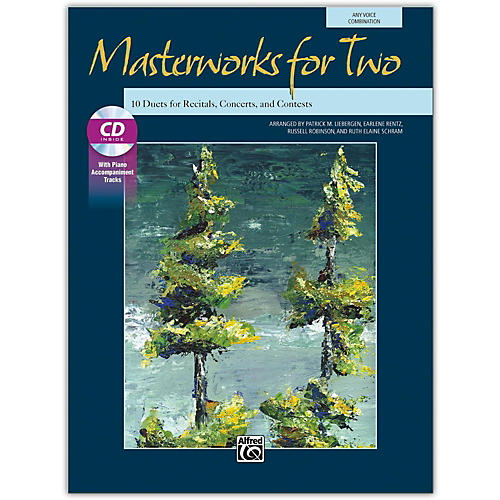 Alfred Masterworks for Two Book & Acc. CD Junior High, High School & Adult-thumbnail