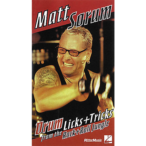 Hal Leonard Matt Sorum - Drum Licks+Tricks from the Rock'n'Roll Jungle VHS Video-thumbnail