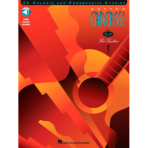 Hal Leonard Matteo Carcassi - 25 Melodic and Progressive Studies, Op. 60 Book/CD Pack