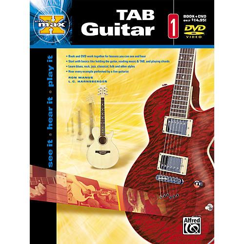 Alfred Max Tab Guitar 1 (Book and DVD)-thumbnail