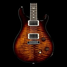 McCarty Carved Flame Maple Top Bird Inlays Black Gold Wrap Burst