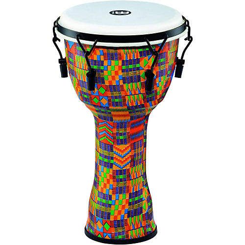 Meinl Mechanically Tuned Djembe with Synthetic Shell and Head 10 in. Kenyan Quilt