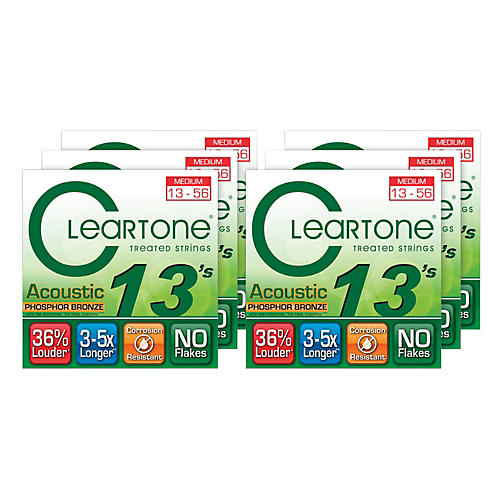 Cleartone Medium Acoustic Guitar Strings 6 Pack-thumbnail