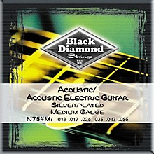 Black Diamond Medium Gauge Silver-Plated Acoustic-Electric Guitar Strings