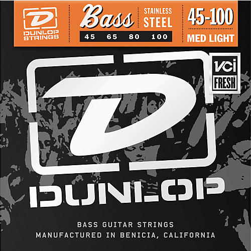 Dunlop Medium Light Stainless Steel Bass Strings