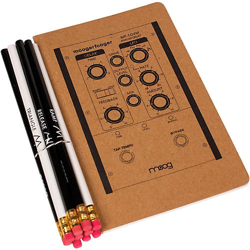 Moog Medium Notebook and Pencil Set (5X8)