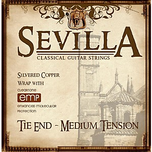 Sevilla Classical Guitar Strings Medium Tension Classical Tie-On Guitar Str...