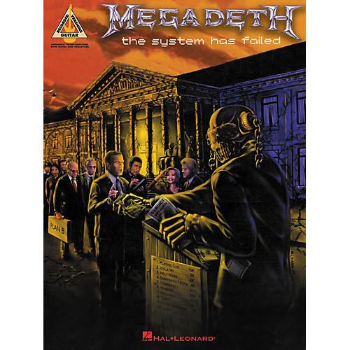 Hal Leonard Megadeth The System Has Failed Guitar Tab Songbook