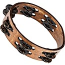 Meinl Compact Wood Tambourine with Double Row Stainless Steel Jingles (CTA2WB)