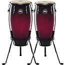 Meinl Headliner Series 11 and 12 Inch Wood conga set with Basket Stands (HC512WBR)