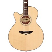 D'Angelico Mercer Grand Auditorium Cutaway Left-Handed Acoustic-Electric Guitar