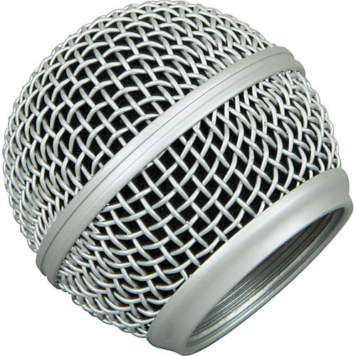 Musician's Gear Mesh Microphone Grille Silver Fits Sm-58