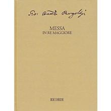 Ricordi Messa in re maggiore Critical Edition Full Score, Hardbound with Commentary Hardcover by Pergolesi