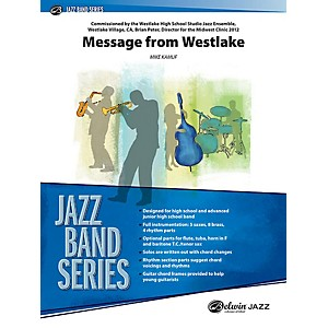 Alfred Message from Westlake Jazz Band Grade 3 Set by Alfred