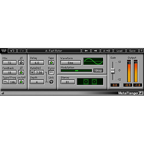 Waves MetaFlanger Native Software Plug-In Software Download
