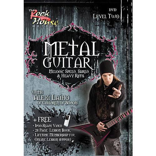 Hal Leonard Metal Guitar Melodic Speed, Shred & Heavy Riffs Level 2 With Alexi Laiho of Children of Bodom DVD