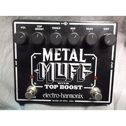Electro-Harmonix Metal Muff Distortion With Top Boost Black And Silver Effect Pedal