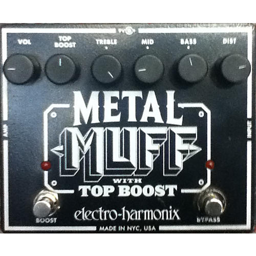 Electro-Harmonix Metal Muff Distortion With Top Boost Black Effect Pedal-thumbnail