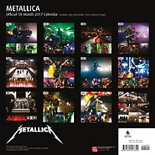 Browntrout Publishing Metallica 2017 Calendar