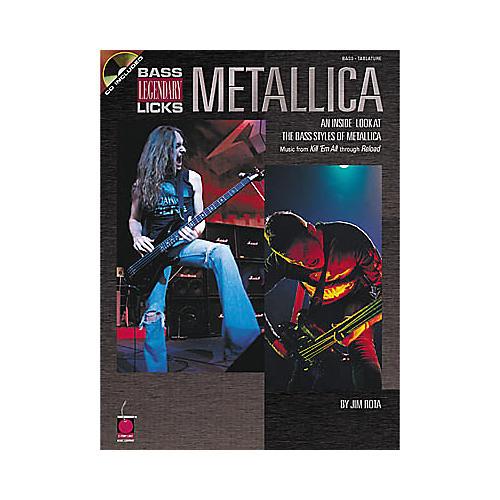 Cherry Lane Metallica Bass Guitar Legendary Licks Book with CD-thumbnail