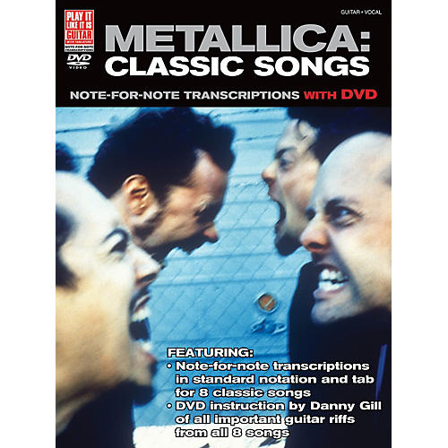 Cherry Lane Metallica Classic Songs For Guitar - Note For Note Transcriptions with DVD-thumbnail